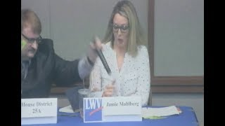 Download Rep. Duane Quam Grabs Microphone from Opponent at Debate Video