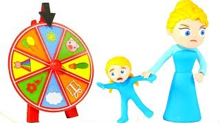 Download LITTLE PRINCESS WANTS TO PLAY WITH THE WHEEL OF FORTUNE ❤ SUPERHERO PLAY DOH CARTOONS FOR KIDS Video