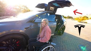 Download The Best Car for Someone in a Wheelchair?! - Our new Tesla Model X! Video