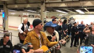 Download U2 Surprise Performance at Grand Central with Jimmy Fallon Video