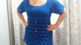 Download Blusa Canesu y abanicos a crochet parte 1 Video