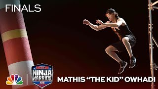Download Mathis ″The Kid″ Owhadi at the Vegas Finals: Stage 2 - American Ninja Warrior 2018 Video
