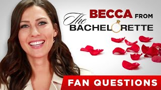 Download Becca From ″The Bachelorette″ Answers Fan Questions Video