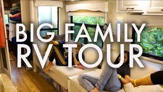 Download BIG FAMILY RV TOUR : HOW WE LIVE IN OUR RV FULLTIME W/9 KIDS!!! Video
