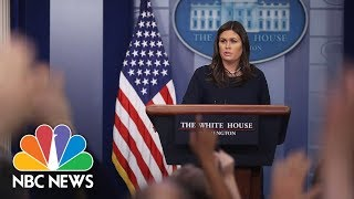 Download White House Press Briefing - August 1, 2018 | NBC News Video