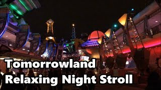 Download Tomorrowland Relaxing Stroll at Night | Magic Kingdom | Walt Disney World Video