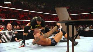 Download Raw: John Cena vs. Randy Orton - Tables Match Video