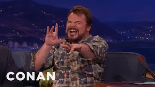Download Jack Black Performs A ″Jumanji″ Song He Co-Wrote With Nick Jonas - CONAN on TBS Video