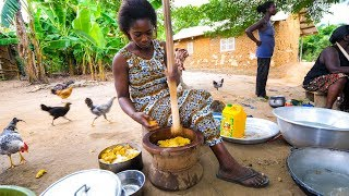 Download Village Food in West Africa - BEST FUFU and EXTREME Hospitality in Rural Ghana! Video