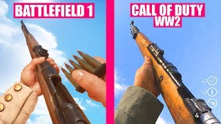 Download BATTLEFIELD 1 Guns Reload Animations vs Call of Duty WW2 Video