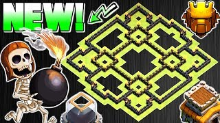 Download NEW TOWN HALL 8 TROPHY / FARMING BASE 2017 | TH8 HYBRID BASE 2017 | CLASH OF CLANS Video