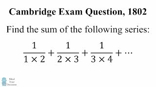 Download Can You Solve This Cambridge Exam Question? Math Problem, 1802 Video