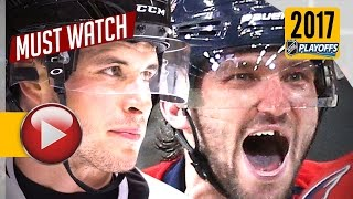Download Sidney Crosby vs Alex Ovechkin 2017 NHL Playoffs Highlights. 8 Goals Total. (HD) Video