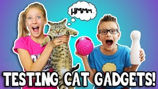 Download TESTING CAT GADGETS ON OUR CAT!!! Video