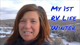 Download Class C Boondocking in Nevada (Snowy Desert!) Video