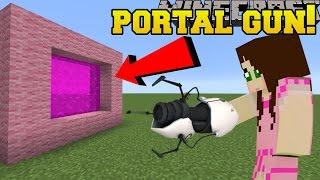 Download Minecraft: PORTAL GUN!!! (CREATE EPIC PORTALS!) Custom Command Video