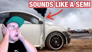 Download I STRAIGHT PIPED MY VOLKSWAGEN TURBO DIESEL BUG! Video