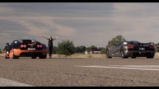 Download Ultra HD 4K RACE from dig 1200 HP Bugatti Veyron Vitesse vs Koenigsegg Agera R- presented by Samsung Video
