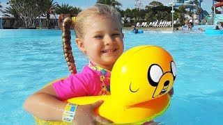 Download Diana and Papa Pretend Play at the WaterPark! My super fun day with Dad and kids toys Video