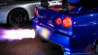 Download Nissan Skyline GTR R34 - Anti-Lag, LAUNCHES! Video