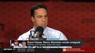 Download Mark Teixeira COMPLETELY CRUSHED Bryce Harper, Manny Machado remain unsigned | Stephen A. Smith Show Video