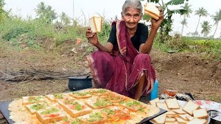 Download My 105 years Grandma's Yummy bread omelette | World Best Egg omelette | Country Foods Video