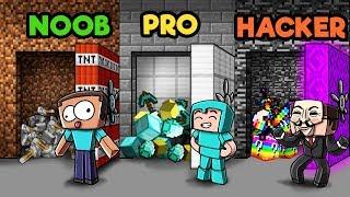 Download Minecraft - SECRET VAULT CHALLENGE! (NOOB vs. PRO vs. HACKER) Video