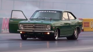 Download 2JZ POWERED DATSUN 1200 COUPE RUNS 7.67 @ 182 MPH SYDNEY DRAGWAY 18.1.2013 Video