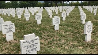 Download Pondering War and Peace at Alsace's German Cemetery Video
