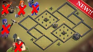 Download New Best Th9 War Base | Defense against Th11 GoBoWiPe, LavaLoon; Th10 Miners; Th9 GoVaWitch, GoValk Video