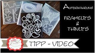 Download Neu Aufbewahrung Thinlits & Framelits - Stampin´Up! - Aufbewahrung Stanzformen Video