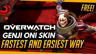 Download Overwatch | GENJI ONI SKIN - How to get it fast and free! (Promo Legendary Skin) Video
