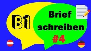Brief Schreiben Deutsch B1 Prüfung Brief 2 German Letter Writing B1