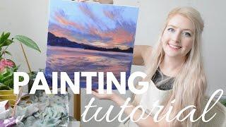 Download PAINTING TUTORIAL Acrylic Seascape Techniques | Katie Jobling Art Video