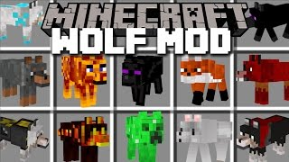 Download Minecraft EXTREME WOLF MOD / PLAY AND PET LOADS DIFFERENT WOLVES!! Minecraft Video