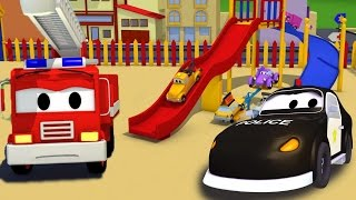 Download The Car Patrol : Police Car & Fire Truck of Car City and the Accident at the Playground for Kids Video