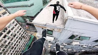 Download Rooftop POV Escape from Hong Kong security! 🇭🇰 Video