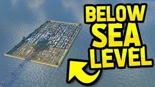 Download CITY BELOW SEA LEVEL in CITIES SKYLINES Video