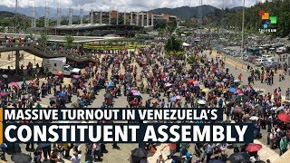 Download Massive Turnout in Venezuela's Constituent Assembly Video