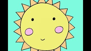 Download How to Draw a Cartoon Sun Step by Step Easy Drawing Tutorial for Kids Video