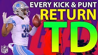 Download Ranking Every Kick & Punt Return TD of the 2017 Season | NFL Highlights Video