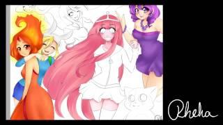 Download [Rheka] Adventure Time Girls [Speedpaint][Remake] Part 2 Video