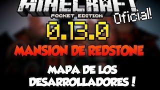 Download Minecraft PE 0.15.0 - MANSION DE REDSTONE - MAPA DE LOS DESARROLLADORES - DESCARGA - POCKET EDITION Video