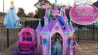 Download Disney Princess Castle Carriage Tea Party Elsa Anna Cinderella Rapunzel Video