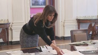 Download All eyes on Melania Trump at glamorous state dinner Video