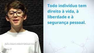 Download Joao Pedro Pierry Izoldi Costa, Brazil, reading article 3 of the Universal Declaration of Human Righ Video