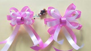 Download วิธีทำริบบิ้นโบว์แบบที่ 3 ง่ายๆ🎂 🎀 byแม่นิดน้องเค้ก ribbon art Video
