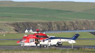 Download Hard life of Helicopter Pilots, carrying workers to North Sea Oil Platforms, Kirkwall, Orkney Video