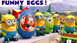 Download Minions funny Kinder Surprise Eggs with Thomas The Train Video