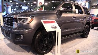 Download 2018 Toyota Sequoia TRD Sport - Exterior Walkaround - 2017 NY Auto Show Video